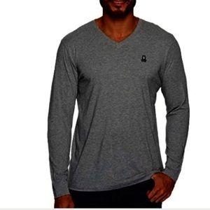 Psycho Bunny Merino Pullover Sweater Sz M in Gray